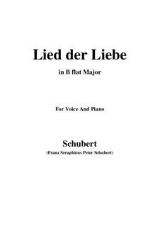 Lied der Liebe (Song of Love), D.109: B flat Major by Franz Schubert