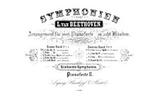 Complete Symphony: Version for two pianos eight hands – piano II part by Ludwig van Beethoven