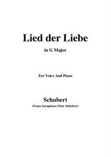 Lied der Liebe (Song of Love), D.109: G Major by Franz Schubert