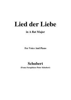 Lied der Liebe (Song of Love), D.109: A flat Major by Franz Schubert