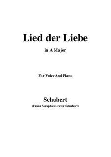 Lied der Liebe (Song of Love), D.109: A Major by Franz Schubert
