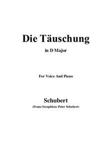 Die Täuschung (The Deception), Op.165 No.4: D Major by Franz Schubert