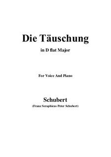 Die Täuschung (The Deception), Op.165 No.4: D flat Major by Franz Schubert