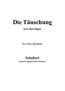 Die Täuschung (The Deception), Op.165 No.4: G flat Major by Franz Schubert