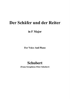 Der Schäfer und der Reiter (The Shepherd and the Horseman), D.517 Op.13 No.1: For voice and piano (F Major) by Franz Schubert