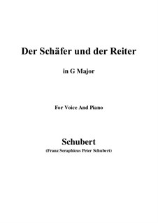 Der Schäfer und der Reiter (The Shepherd and the Horseman), D.517 Op.13 No.1: For voice and piano (G Major) by Franz Schubert