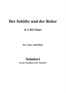 Der Schäfer und der Reiter (The Shepherd and the Horseman), D.517 Op.13 No.1: For voice and piano (A flat Major) by Franz Schubert