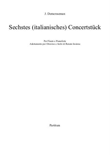 Sechstes (italianisches) Concertstück, Op.82: Sechstes (italianisches) Concertstück by Jules Demersseman