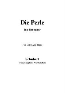 Die Perle (Pearl), D.466: E flat minor by Franz Schubert