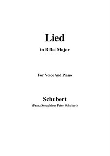 Song for Voice and Piano, D.284: B flat Major by Franz Schubert
