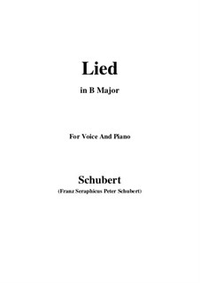Song for Voice and Piano, D.284: B Major by Franz Schubert