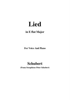 Song for Voice and Piano, D.284: E flat Major by Franz Schubert