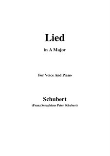 Song for Voice and Piano, D.284: A Major by Franz Schubert