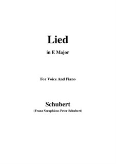 Song for Voice and Piano, D.284: E Major by Franz Schubert