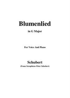 Blumenlied (Flower Song), D.431: G Major by Franz Schubert