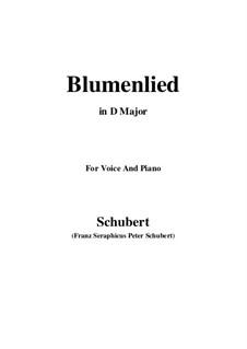 Blumenlied (Flower Song), D.431: D Major by Franz Schubert
