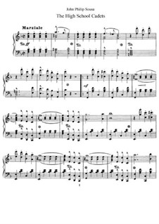 The High School Cadets: For piano by John Philip Sousa