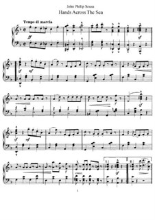 Hands Across the Sea: For piano by John Philip Sousa