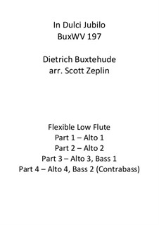 In dulci jubilo, BuxWV 197: For flute quartet by Dietrich Buxtehude