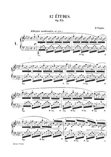 Complete set: For piano by Frédéric Chopin