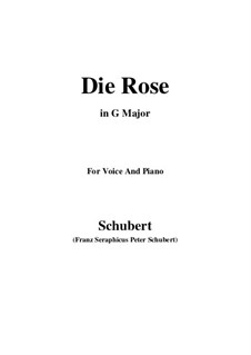 The Rose, D.745 Op.73: For voice and piano (G Major) by Franz Schubert