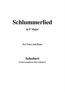 Le berceuse (Slumber Song), D.527 Op.24 No.2: For voice and piano (F Major) by Franz Schubert