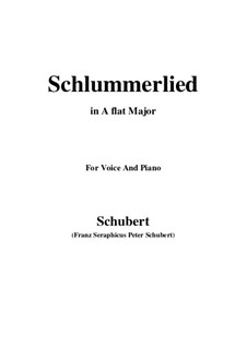Le berceuse (Slumber Song), D.527 Op.24 No.2: For voice and piano (A flat Major) by Franz Schubert