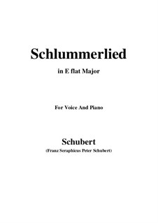 Le berceuse (Slumber Song), D.527 Op.24 No.2: For voice and piano (E flat Major) by Franz Schubert