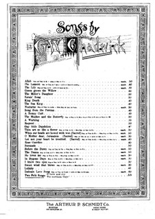 Two Folk Songs: Two Folk Songs by George Whitefield Chadwick