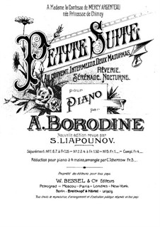 Petite suite: For piano four hands by Alexander Borodin