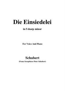 Die Einsiedelei (The Hermitage), D.563: F sharp minor by Franz Schubert