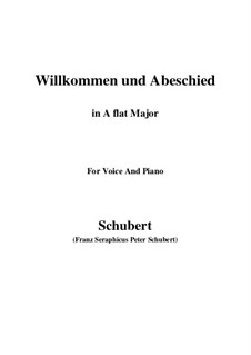 Willkommen und Abschied, D.767 Op.56 No.1: For voice and piano (A flat Major) by Franz Schubert