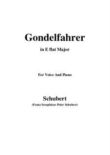 Gondelfahrer (The Gondolier), D.808: E flat Major by Franz Schubert