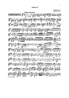 Complete Concerto: Version for piano and string quintet – violin II part by Frédéric Chopin