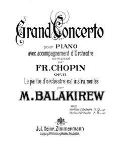 Complete Concerto: Full score by Frédéric Chopin