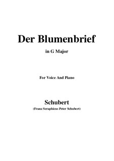 Der Blumenbrief (The Message of Flowers), D.622: For voice and piano (G Major) by Franz Schubert