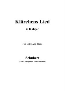 Die Liebe (Love), D.210: For voice and piano (B Major) by Franz Schubert
