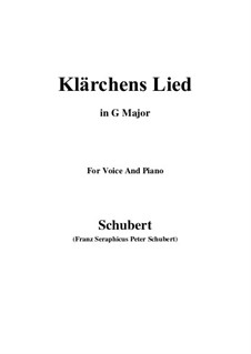 Die Liebe (Love), D.210: For voice and piano (G Major) by Franz Schubert