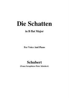 Die Schatten (The Shades), D.50: B flat Major by Franz Schubert