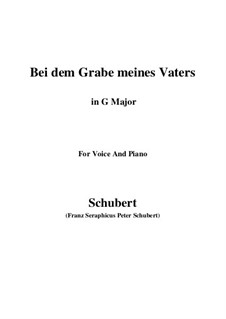 Bei dem Grame Meines Vaters (At My Father's Grave), D.496: G Major by Franz Schubert