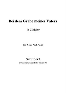 Bei dem Grame Meines Vaters (At My Father's Grave), D.496: C Major by Franz Schubert