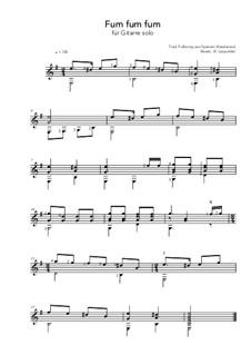 Fum, Fum, Fum: For guitar by folklore
