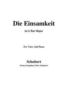 Einsamkeit (Solitude), D.620: G flat Major by Franz Schubert