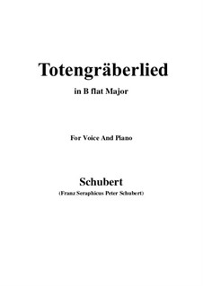 Totengräberlied (Gravedigger's Song), D.44: B flat Major by Franz Schubert