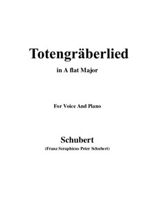 Totengräberlied (Gravedigger's Song), D.44: A flat Major by Franz Schubert