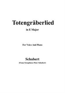 Totengräberlied (Gravedigger's Song), D.44: E Major by Franz Schubert
