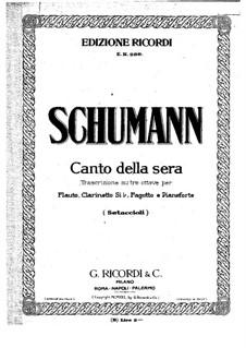 Canto della sera: Piano part by Robert Schumann