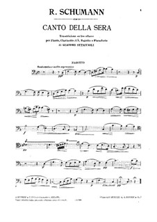 Canto della sera: Bassoon part by Robert Schumann