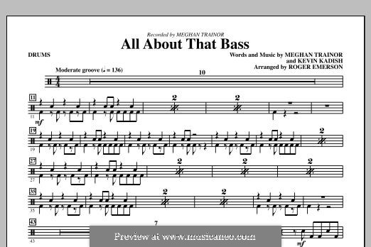 All About That Bass: Drums by Kevin Kadish, Meghan Trainor
