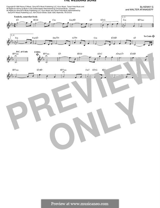 The Wedding Song (Kenny G): Melody line by Walter Afanasieff